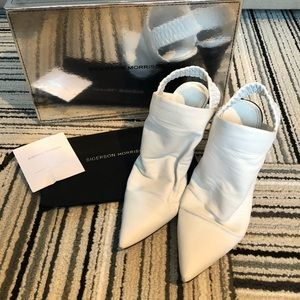 White Sigerson Morrison Sling Back Booties